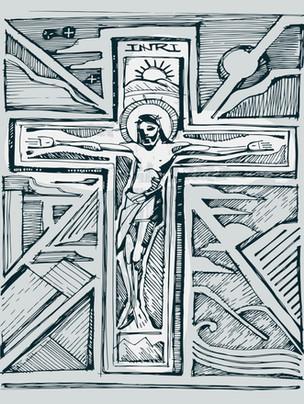 Jesús en la cruz dibujo / Jesus at the cross drawing