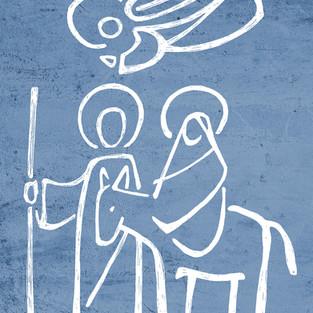 Sagrada Familia Natividad dibujo / Sacred Family Nativity drawing