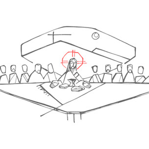 Última Cena / Last Supper drawing