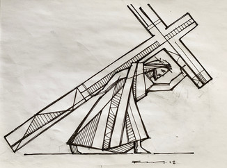 21 x 28 cms aprox / Tinta sobre papel / Ink on paper