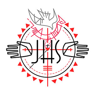 JHS monograma Cruz del Apostolado / JHS Cross of the Apostolate monogram