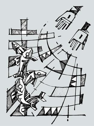 Jesus Pescador de hombres diujo / Jesus Fisher of men drawing