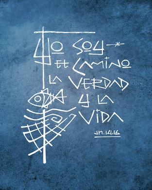 Camino Verdad y Vida dibujo / Way Truth and Life drawing