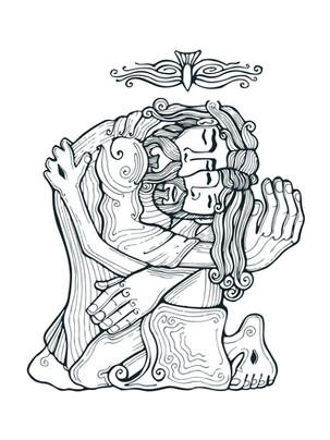 Santísima Trinidad dibujo / Holy Trinity drawing