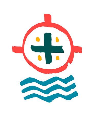 Símbolo Cruz y olas / Cross and waves symbol