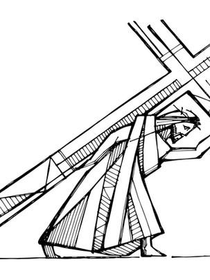 Jesús con la cruz dibujo / Jesus with the cross drawing