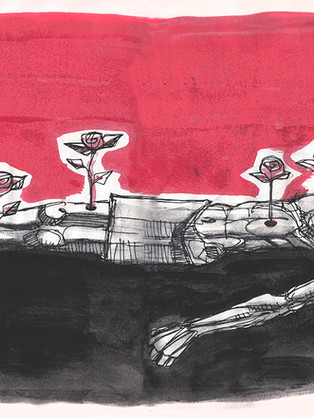 Mártir dibujo / Martyr drawing