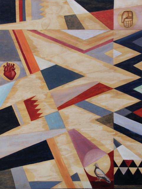 79 x 60.5 cms aprox / Oleo sobre madera / Oil on wood