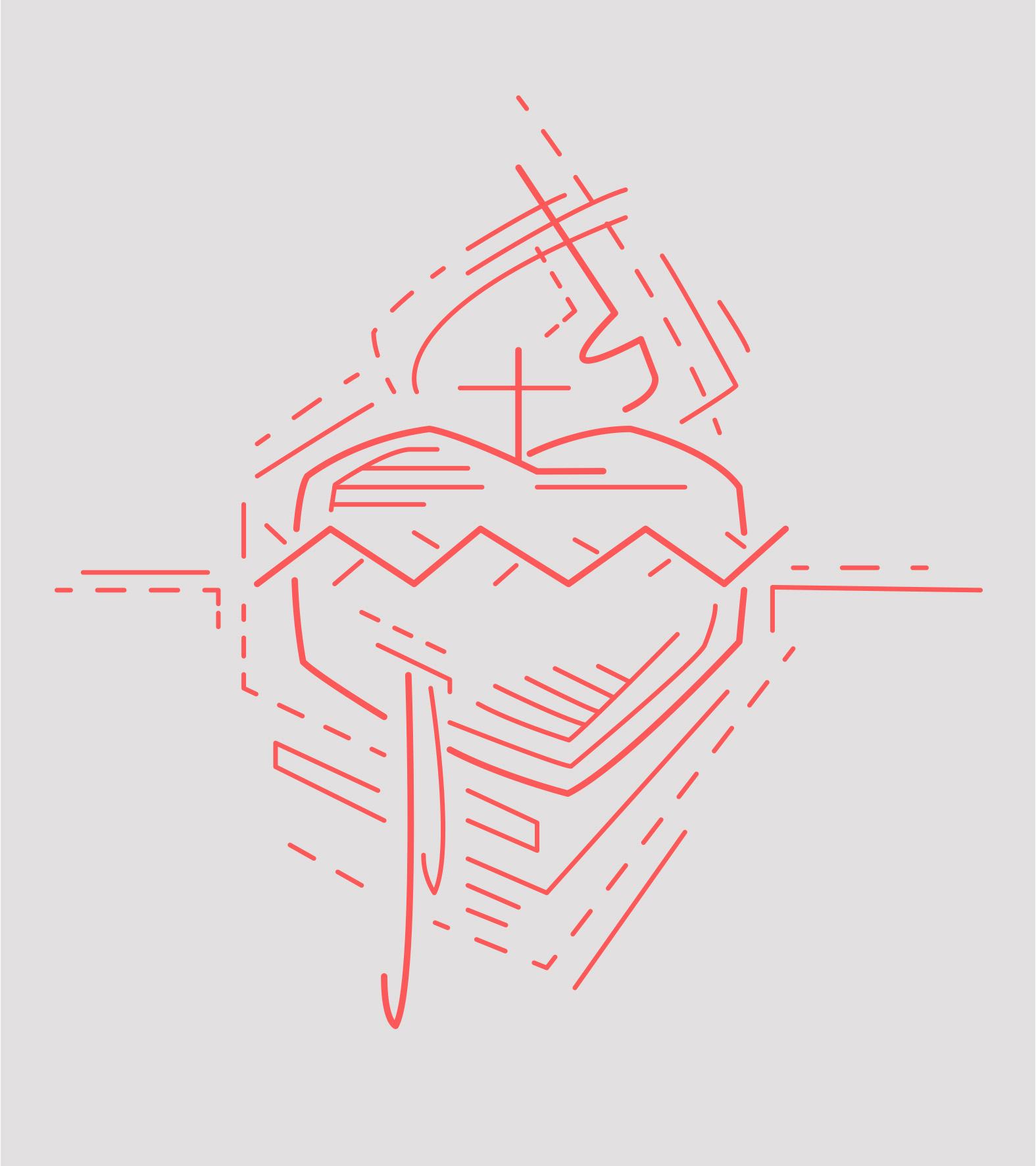 Sagrado corazón de Jesús dibujo / Jesus Sacred Heart drawing