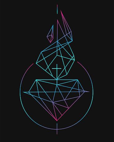 Sagrado Corazón de Jesús diseño minimal / Jesus Sacred Heart minimal design