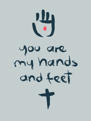 You aare my hands and feet drawing