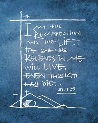 Yo soy la Resurrección y la Vida dibujo / I am the Resurrection and the Life drawing