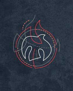 Espíritu Santo símbolo diseño minimal / Holy Spirit minimal symbol design