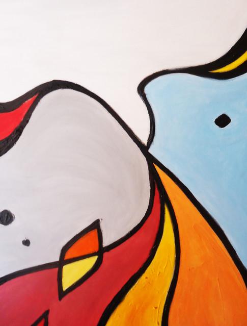 90 x 70 cms / Oleo y acrílico sobre tela / Mixed on canvas