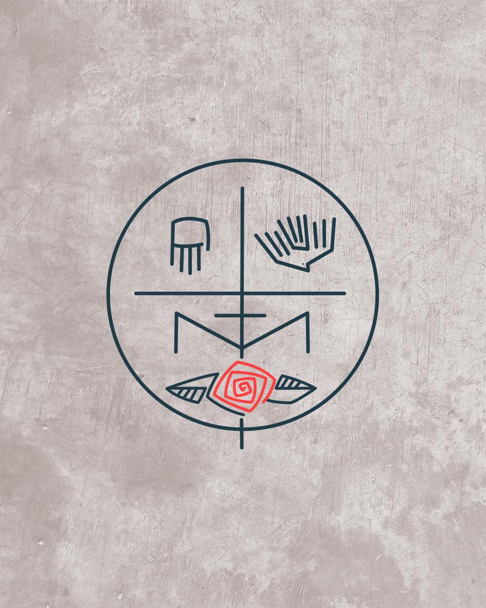 Trinidad y Maria diseño símbolo / Mary and Trinity symbol design