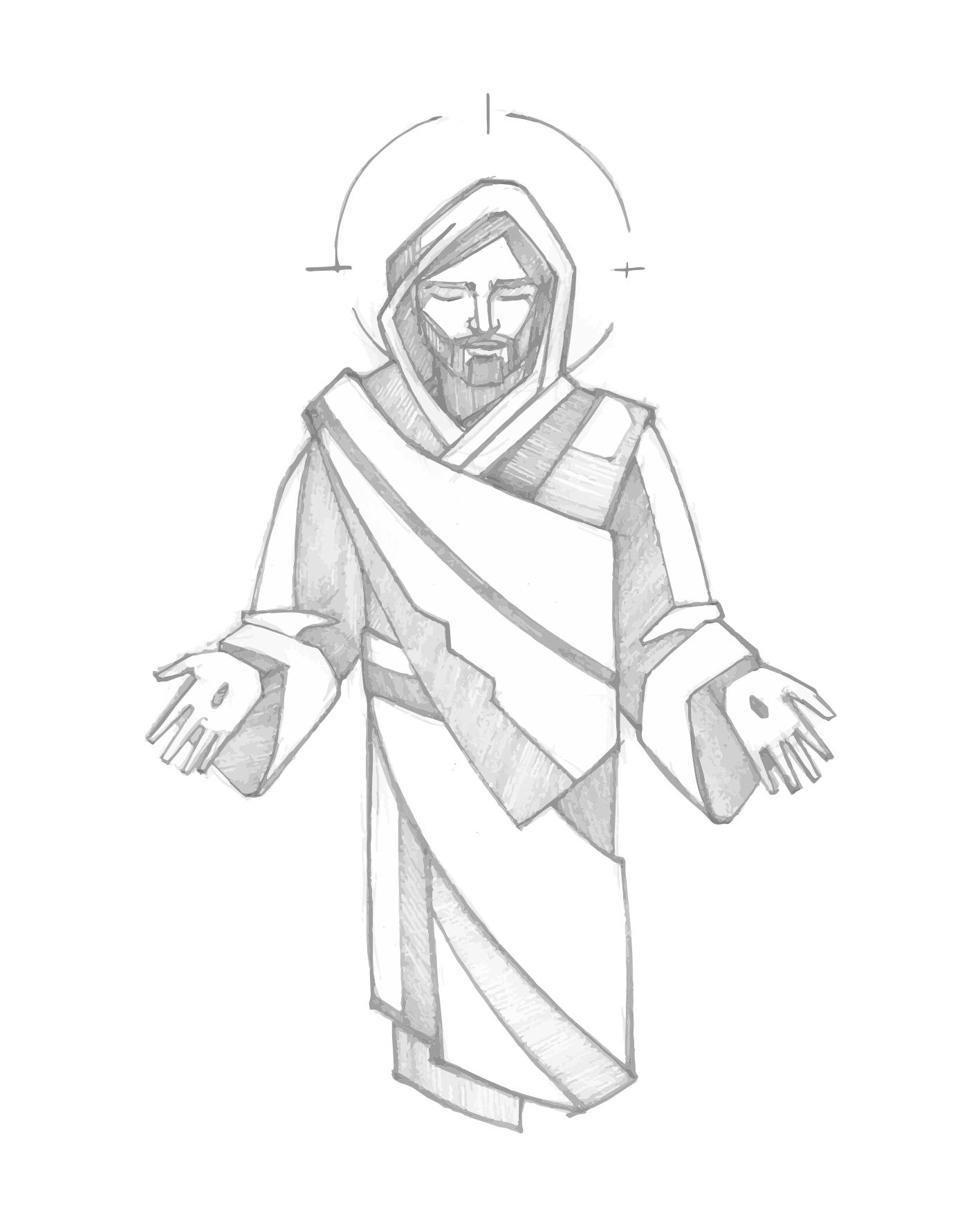 Jesus Resucitado dibujo / Resurrected Jesus drawing