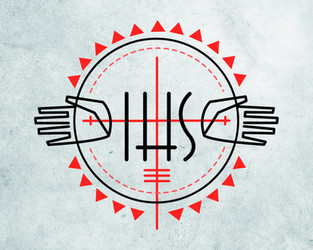 Monograma IHS Jesuita y cruz diseño / IHS Jesuit monogram and cross