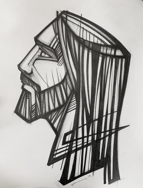 61 x 46 cms aprox. / Grafito sobre papel / Graphite on paper