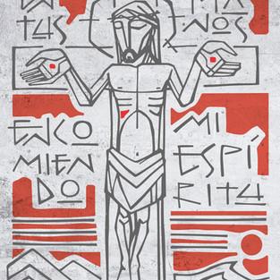 2020 Cristo en la cruz en tus manos text