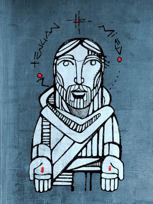 Jesús no tengan miedo dibujo / Jesus dont be afraid drawing