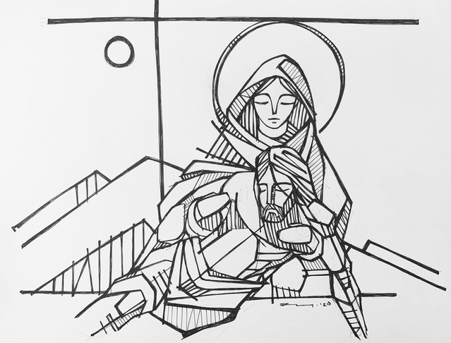 2020 Jesús en brazos de María