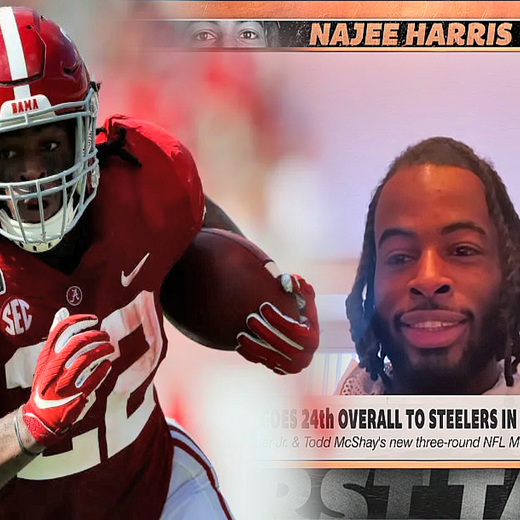 Najee Harris Shares His Thoughts On Possibly Becoming A Steeler (Video)
