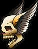 Cráneo con las alas