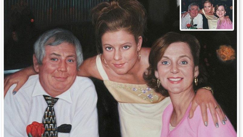 Portrait of My Lady Client With Her Parents
