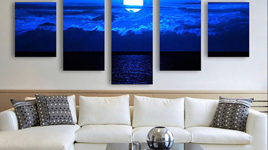 5-Module Oversize Abstract Painting
