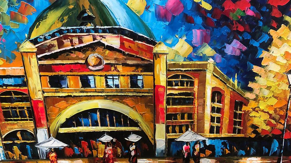 Flinder St.Station Colour Galour 150 x70 cm
