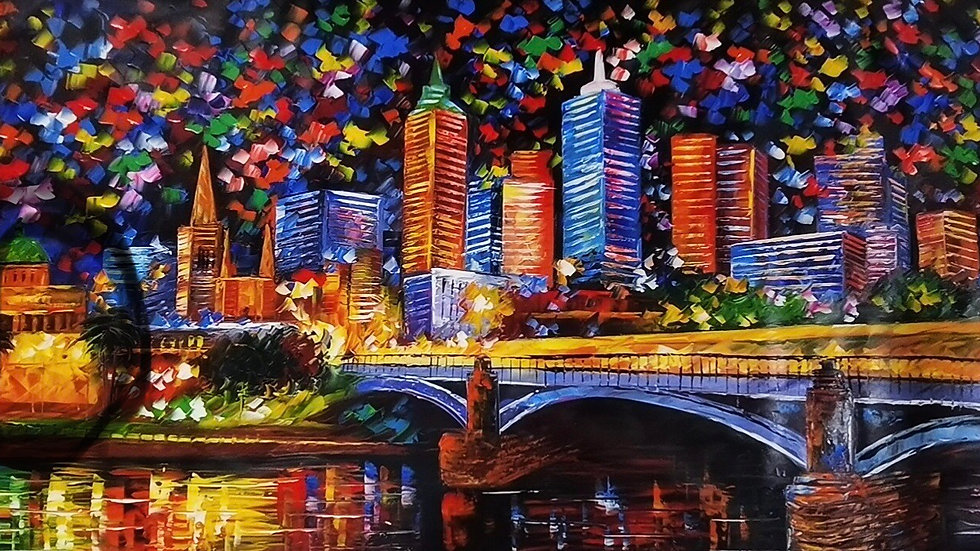 Melbourne Princess Bridge By Night