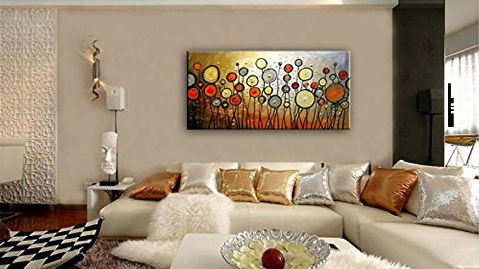 Custom Made Abstract Flower Composition Home Decor Range