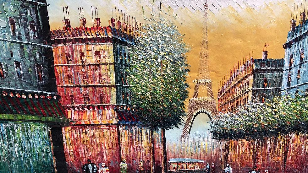 PARIS Champs Élysées in 1898