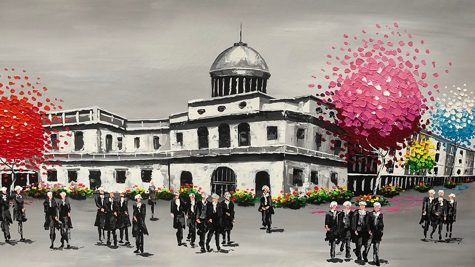 Supreme Court Melbourne Custm Made Painting