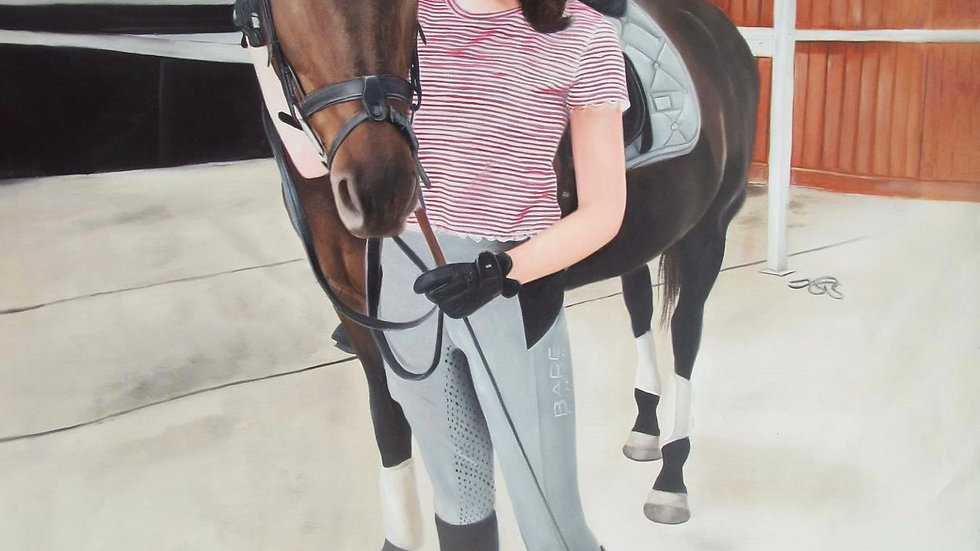 Portrait of My Client With Her Stallion