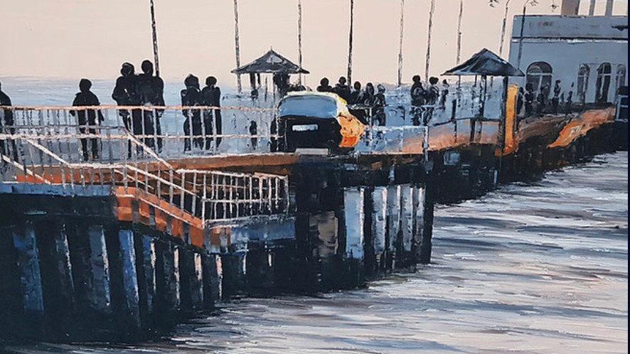 St.Kilda Pier At Sunset