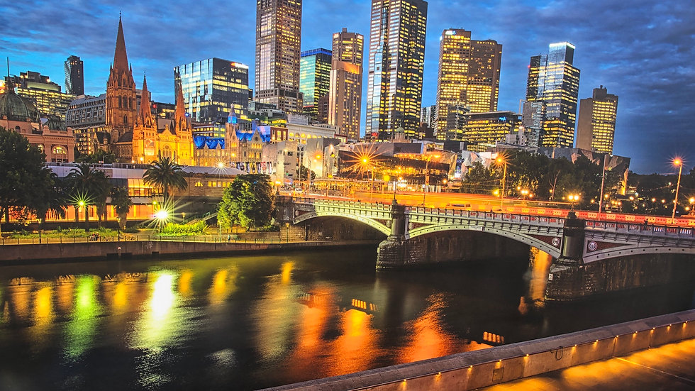 Melbourne Our Most Livable City By Night 150 x 70 cm