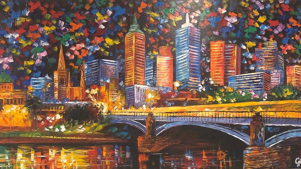 Princess Bridge Melbourne By Night