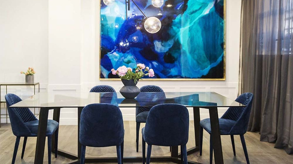 Custom Made Floating Waves Abstract Composition Home Decor Range
