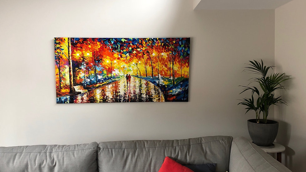Love Couple in Living Room