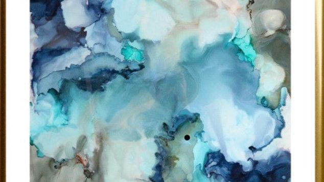 Blue Ocean Current In Pastel Colour Composotion