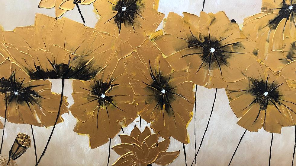 Golden Lotus Composition