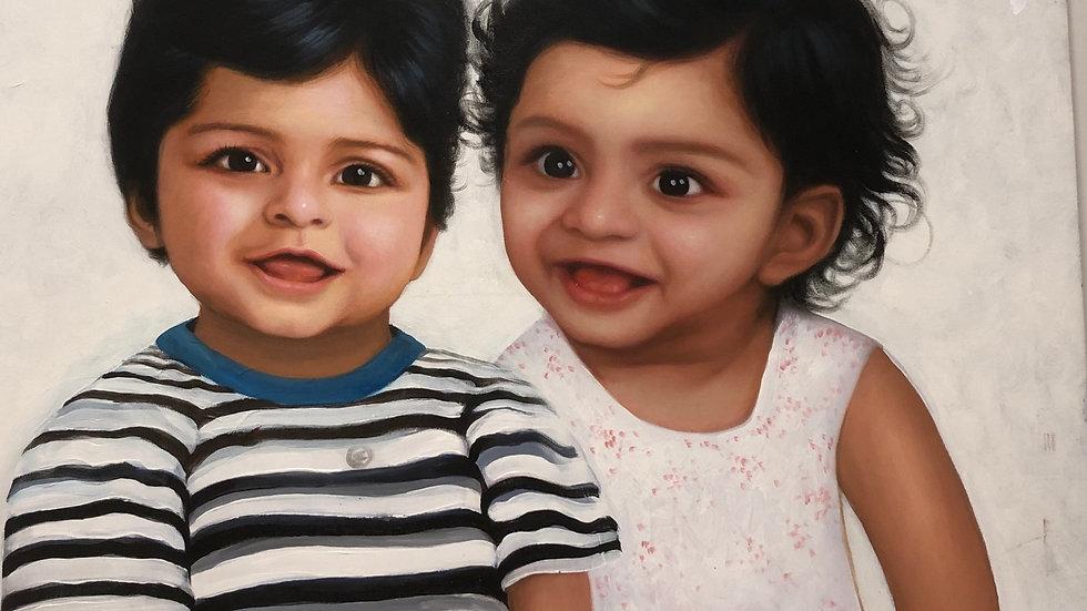Beautiful Twins Portrait
