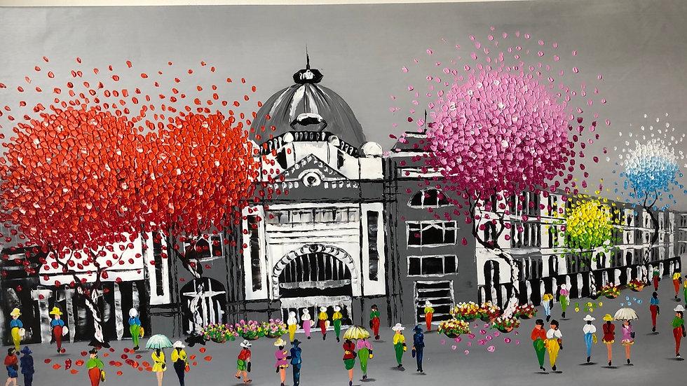 Flinder Street Station New Colour Composition