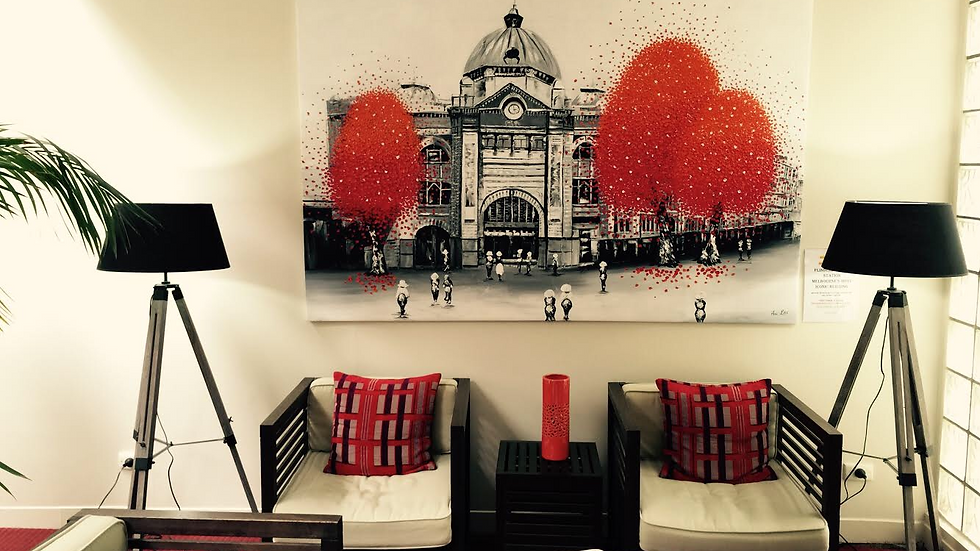 Flinder St.Station in the Lobby Area of Hotel International Dingley