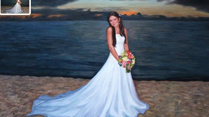 Wedding Portrait of A Beautiful Lady