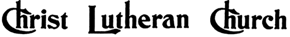 Christ Lutheran Church Font Logo - Black
