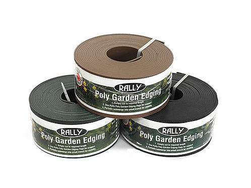 POLY GARDEN EDGING ASSORTED COLOURS 75MM X 30M