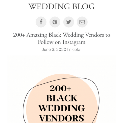 Junebug's 2OO Black Wedding  Vendors to follow