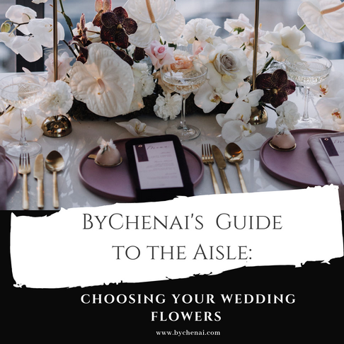 5 things to consider when Choosing your wedding flowers.